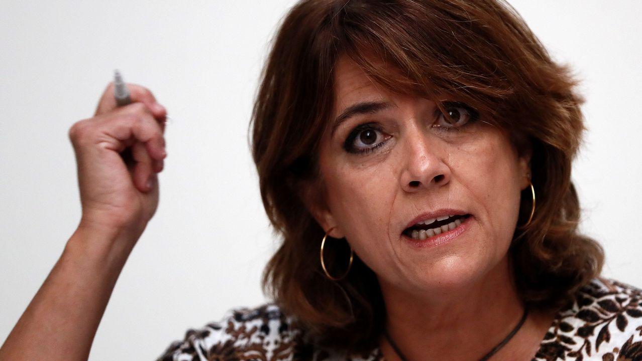 La ministra de Justicia: «No voy a permitir bajo ningún concepto que nadie cuestione mis principios».El ministro del Interior, Fernando Grande-Marlaska