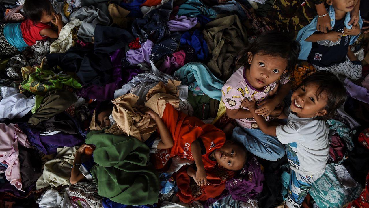 Temor a una nueva catástrofe en Indonesia.Cartel de Tsunami Xixón 2019