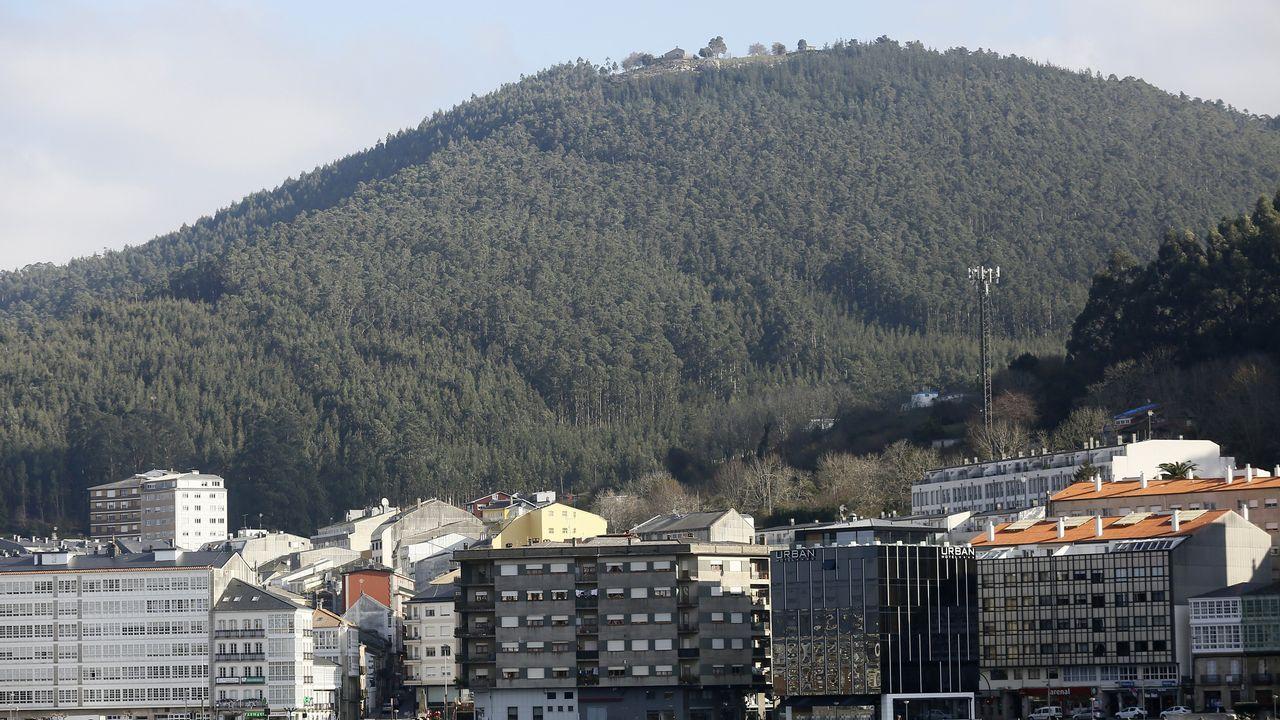 Vista panorámica del monte de San Roque, en Viveiro