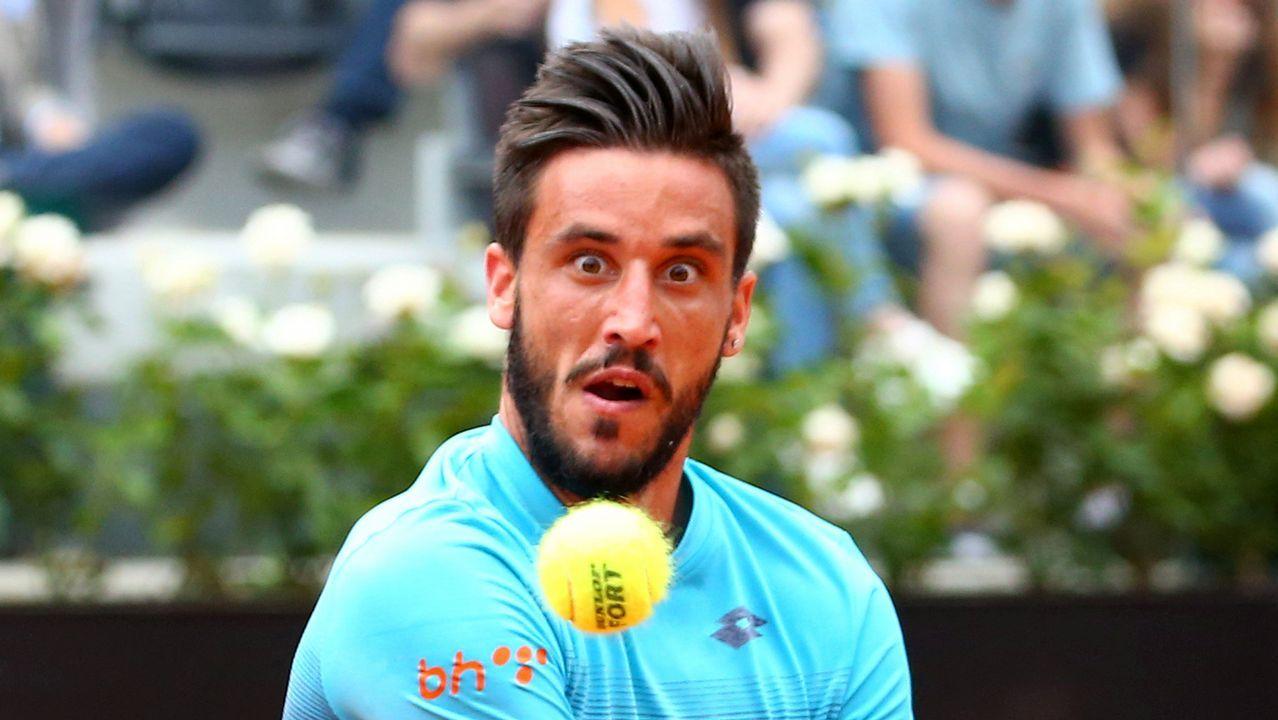 El tenista de Bosnia-Herzegovina Damir Dzumhur, durante un partido del Máster de Roma