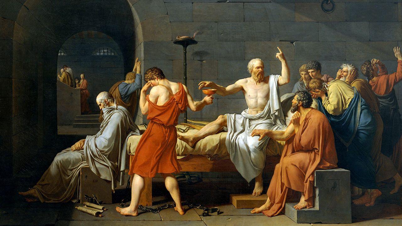 Los concejos recuerdan a Ardines.'La muerte de Sócrates' de David