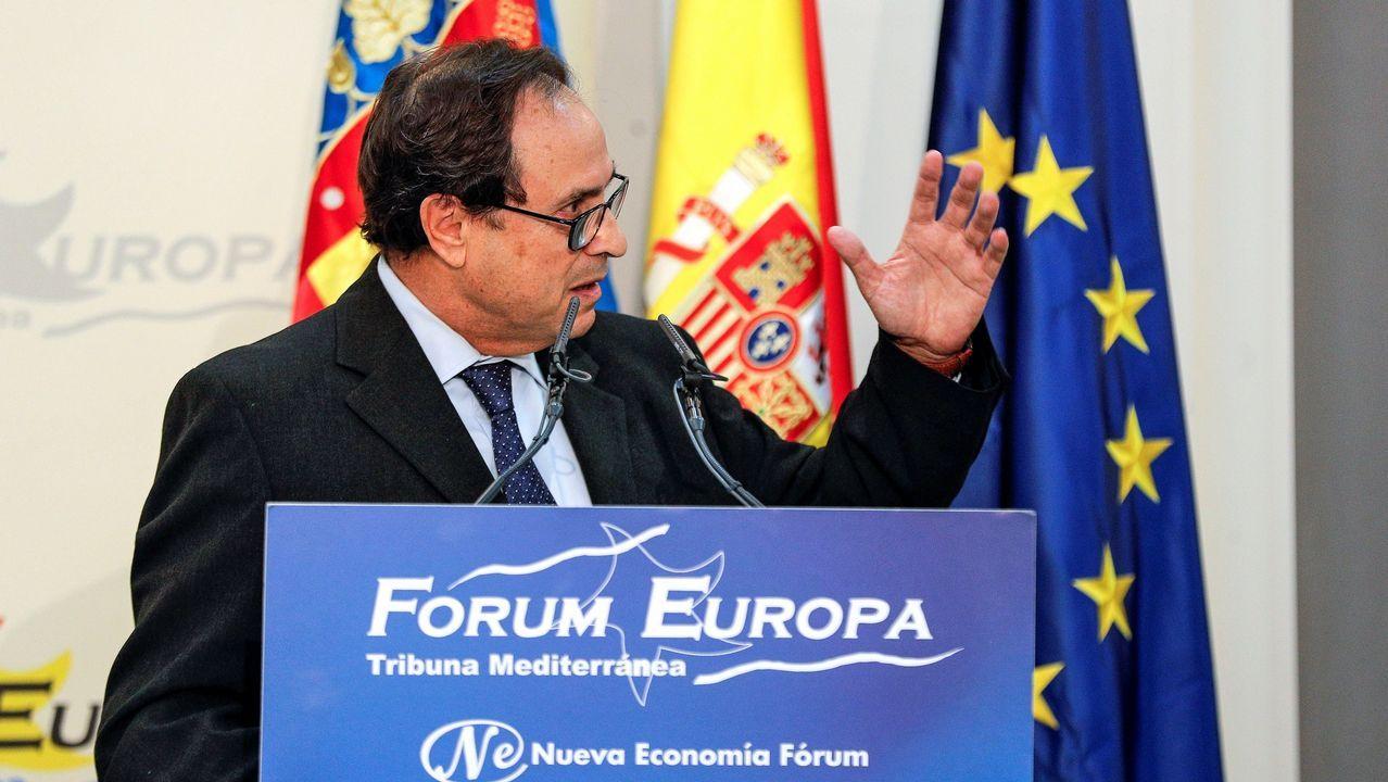 El conseller de Hacienda, Vicent Soler, durante su intervención en el Fórum Europa Tribunal Mediterránea