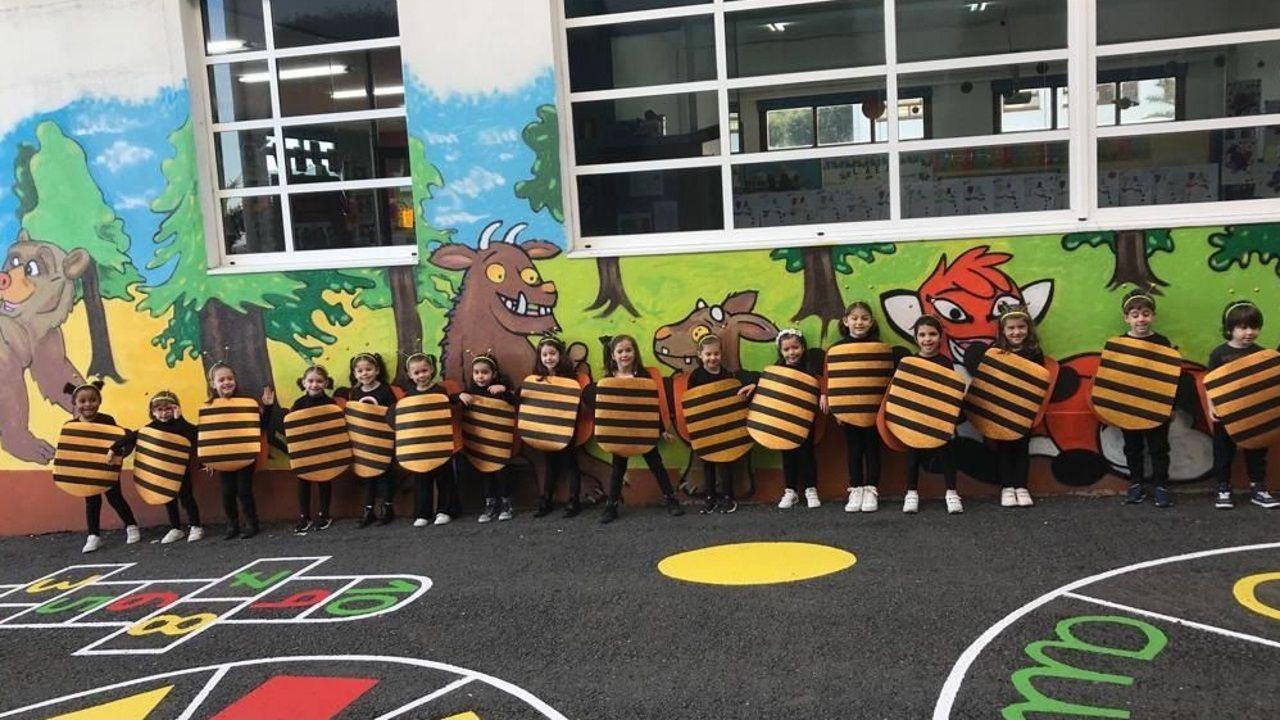 Los pequeños de infantil de Montegrande se disfrazaron de abejas