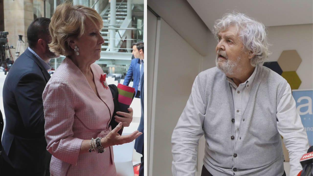 Pablo Casado: «Somos conscientes de los errores».Casado saluda a Mercedes Fernandez en compañia de Susana Lopez Aares