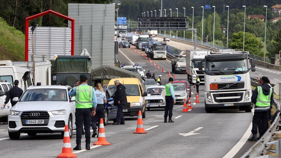Nueva jornada de controlesen la frontera con Portugal