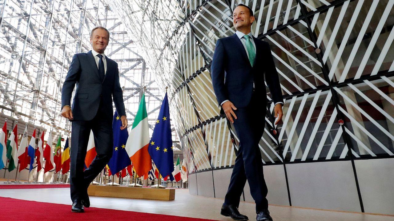 La visita del embajador de Palestina a Rianxo, en imágenes.Tusk con el primer ministro irlandés, Teo Varadkar, en la sede del Consejo Europeo