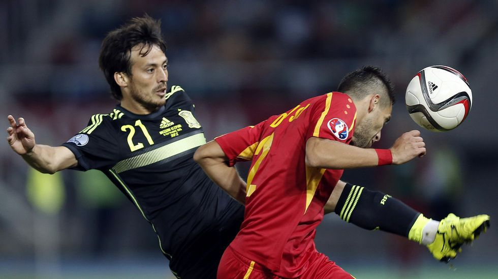 El Macedonia-España, en fotos.