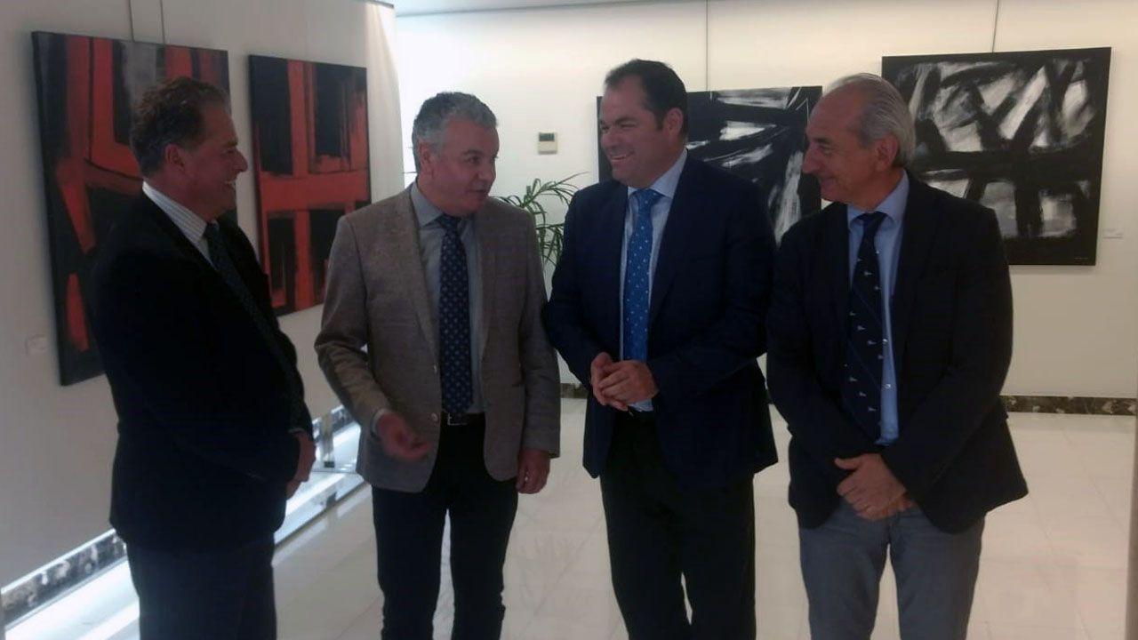 Félix Baragaño, Belarmino Feito, Carlos Paniceres y Luis Noguera