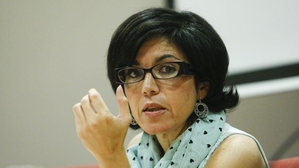 Actos de repulsa de la violencia machista en Monforte y Quiroga.Juzgados de Lugo