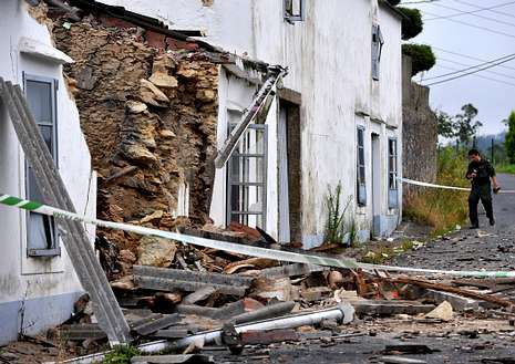 Así quedó el almacén tras la explosión del domingo.
