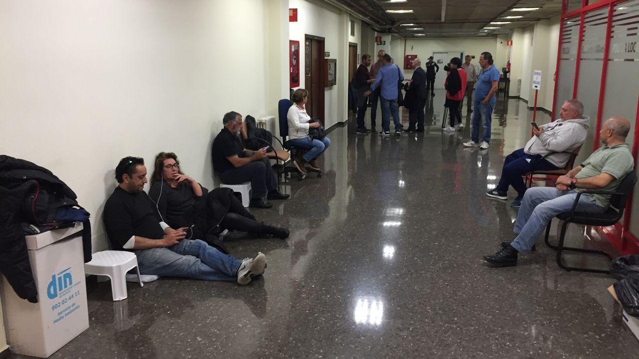 Alto seguimiento de la huelga en la prisión de A Lama.Vista general de la cárcel de Asturias