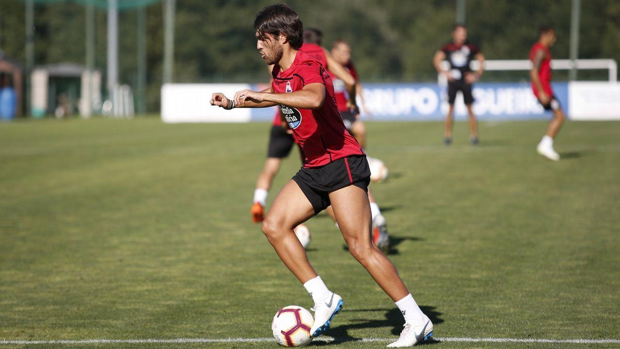 Mallorca - Deportivo en imágenes.Somma se convierte en la gran novedad del Deportivo en Cádiz