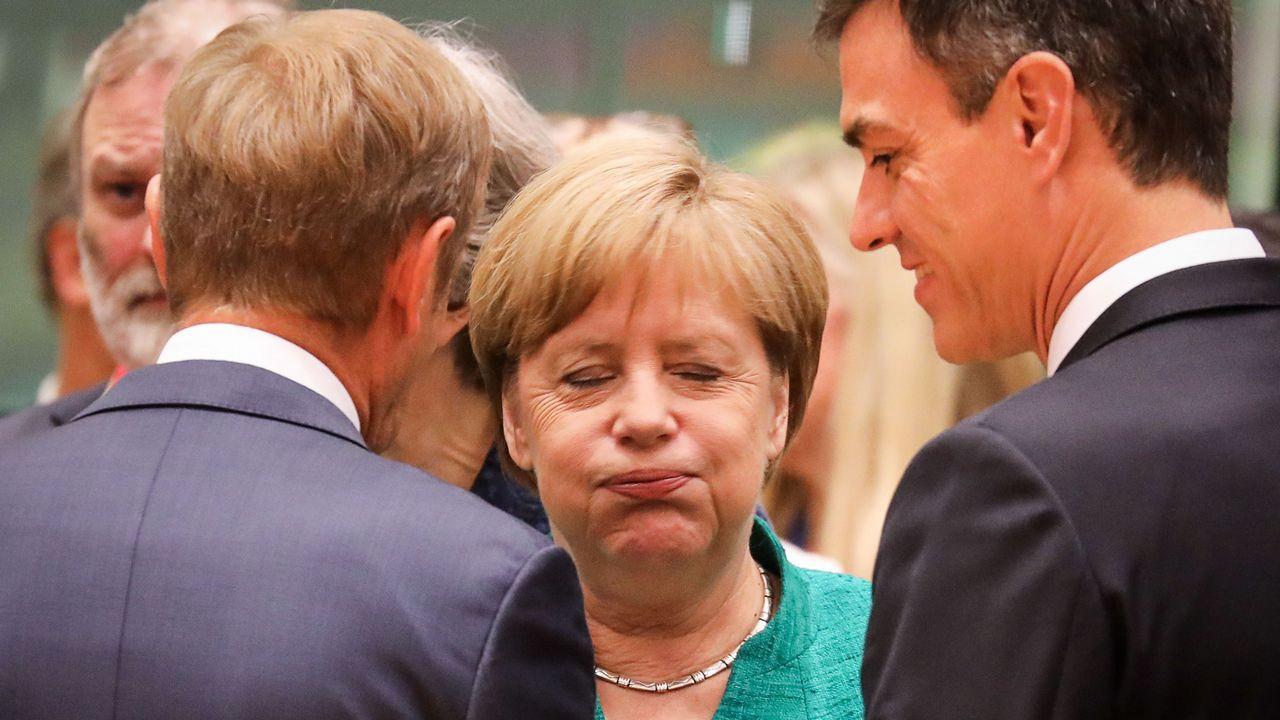 Jean-Claude Juncker, tras una noche de negociaciones