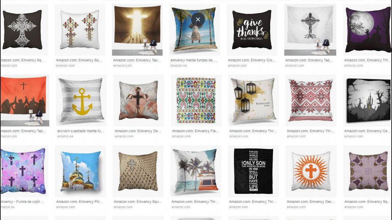 La empresa que comercializaba el váter con decoración islámica vende también cojines y cortinas con cruces y otros motivos religiosos