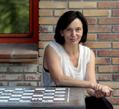 Carolina Bescansa presentó ayer las cuentas de Podemos.