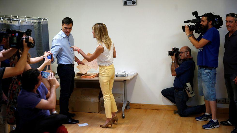 .Pedro Sánchez y su mujer Begoña Gómez