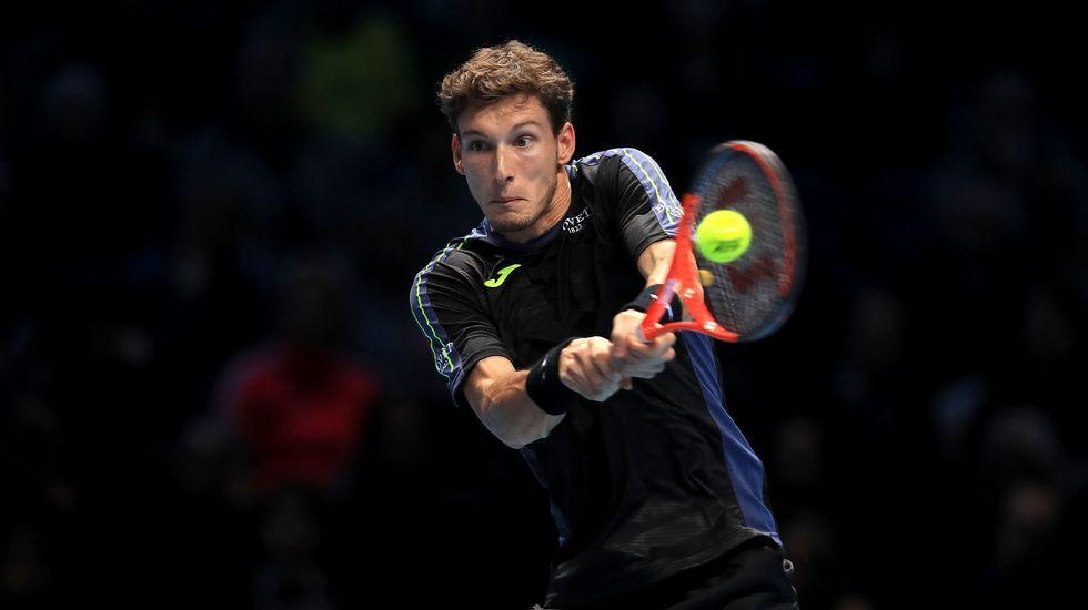 .Pablo Carreño, en su partido ante Thiem en las Finales ATP
