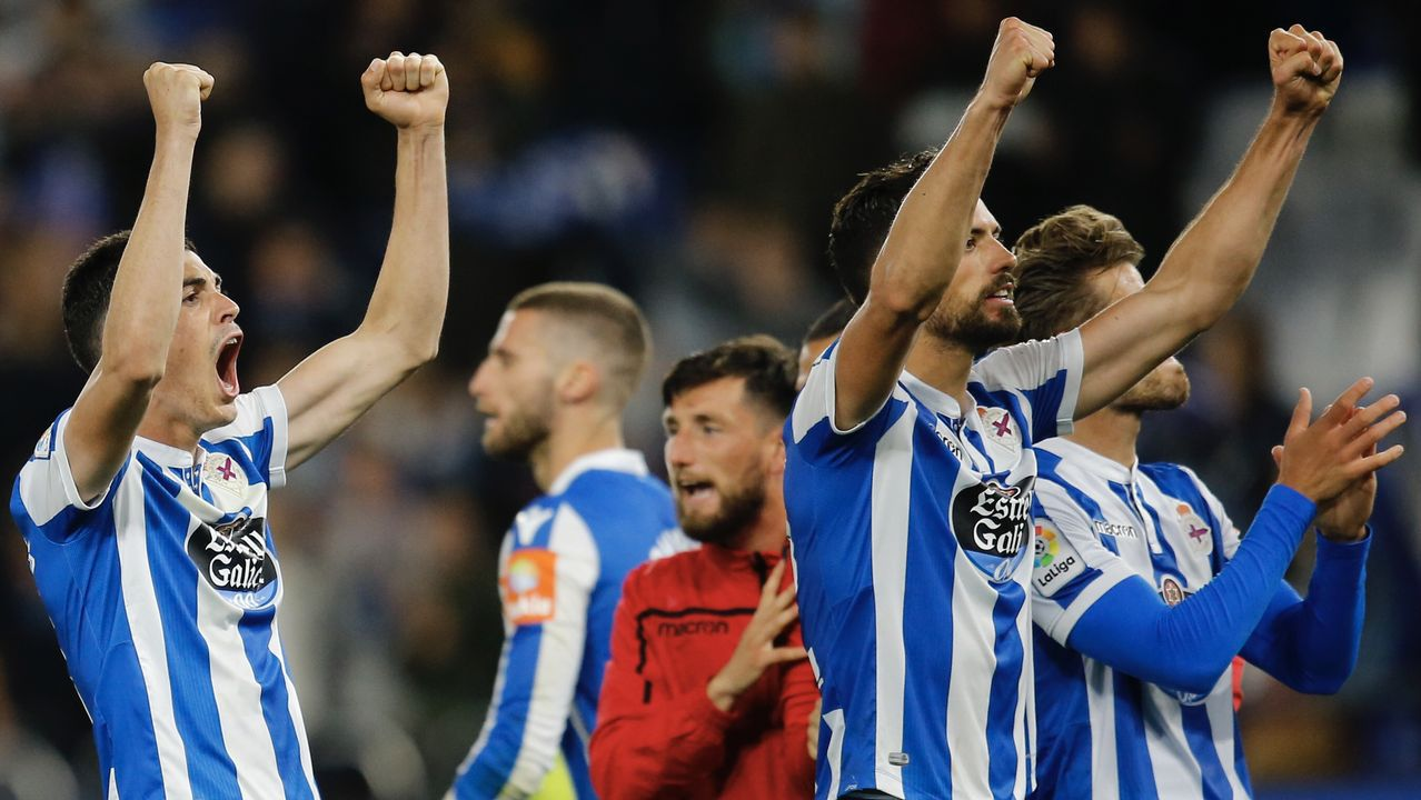 Imagen del partido del pasado 27 de mayo en Riazor entre el Deportivo y el Mallorca que acabó con triunfo local por 1-0