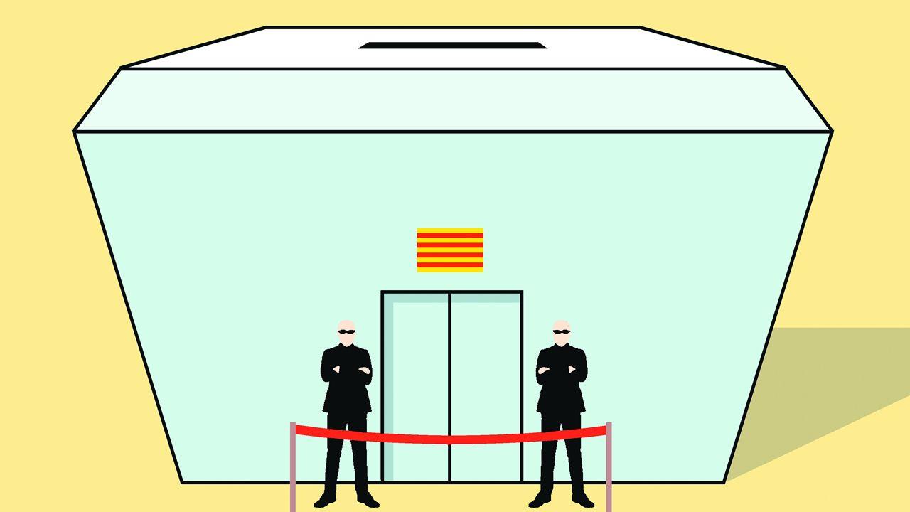 Puigdemont presenta su lista para el 21D en Brujas.Imagen de Jesús Cardenal en A Coruña en 2002