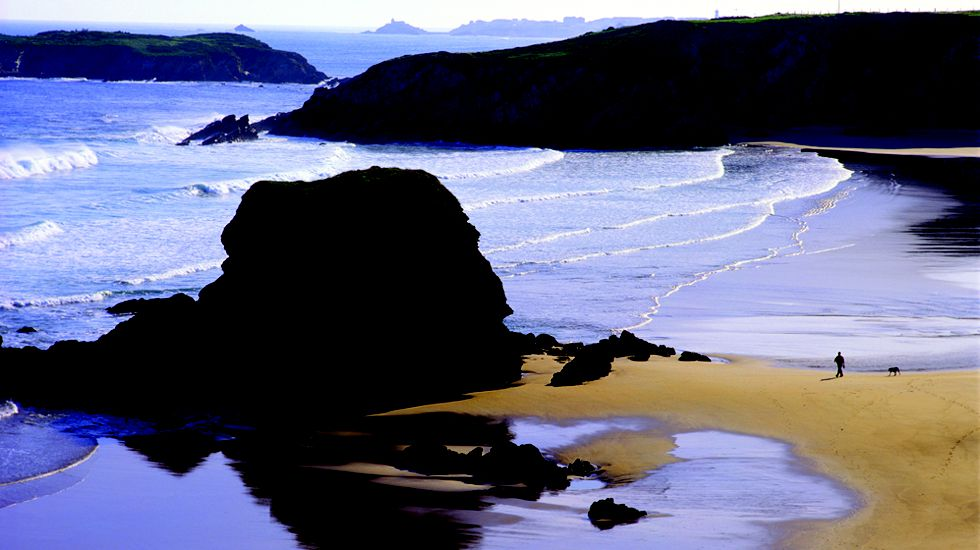 La playa de Peñarronda.La playa de Peñarronda