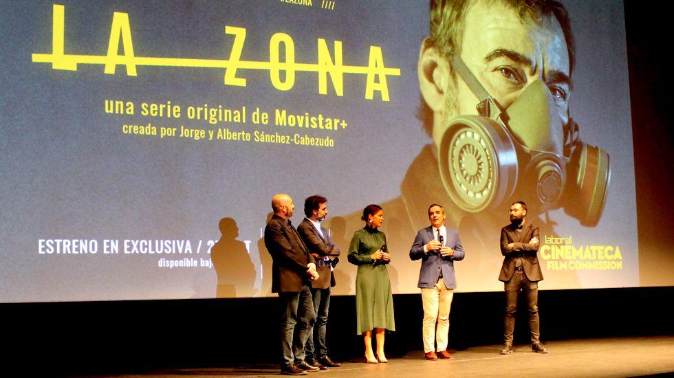 Un momento del preestreno de «La Zona» en el Teatro de la Laboral