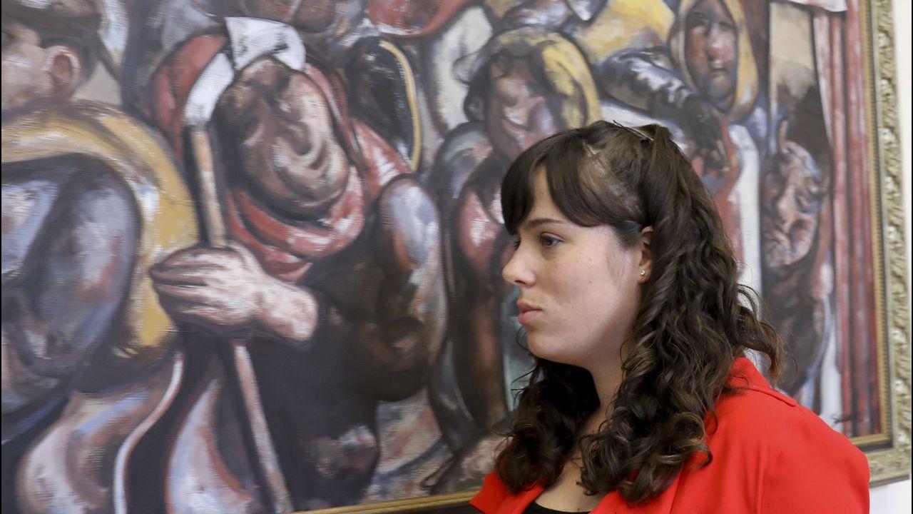Paula Quinteiro (Parlamento de Galicia). Provocó el primer gran cisma de En Marea en el Parlamento tras su altercado con la policía. Villares pidió su dimisión pero la mayoría de los diputados la defendieron