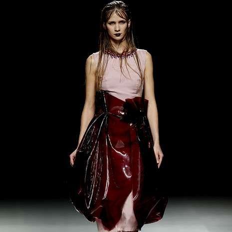 Lo mejor de esta edición de Madrid Fashion Week.Modelo de María Barros para la primavera-verano 2014.