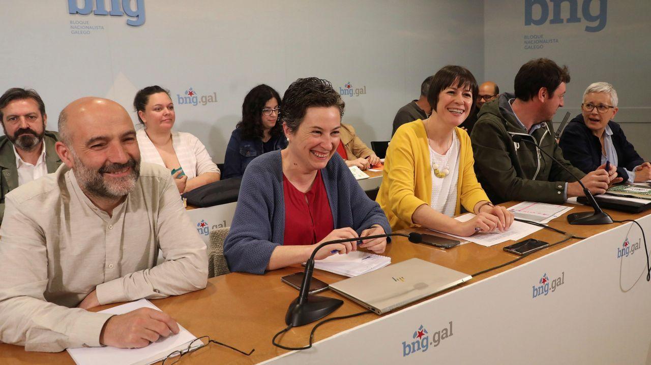 Detalle de la reunión del consello nacional del BNG celebrado el sábado en Santiago