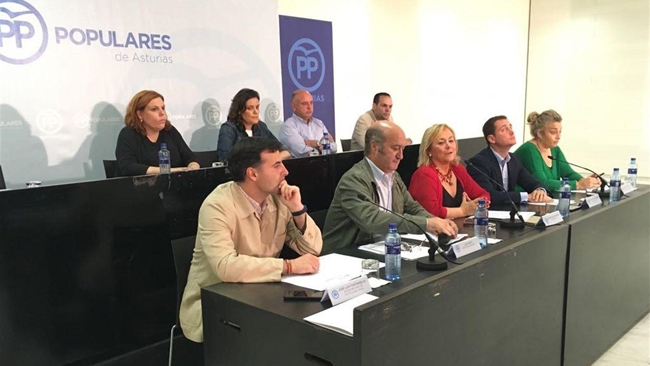 Agustín Iglesias Caunedo, en una junta local del PP de Oviedo.Comité Ejecutivo Regional del PP