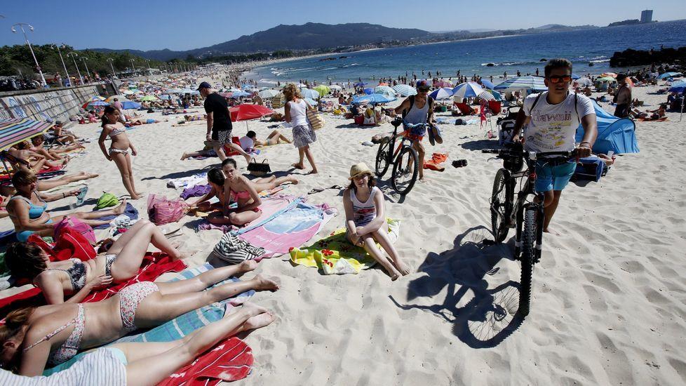Playa de Argazada, a continuación de Samil, en Vigo