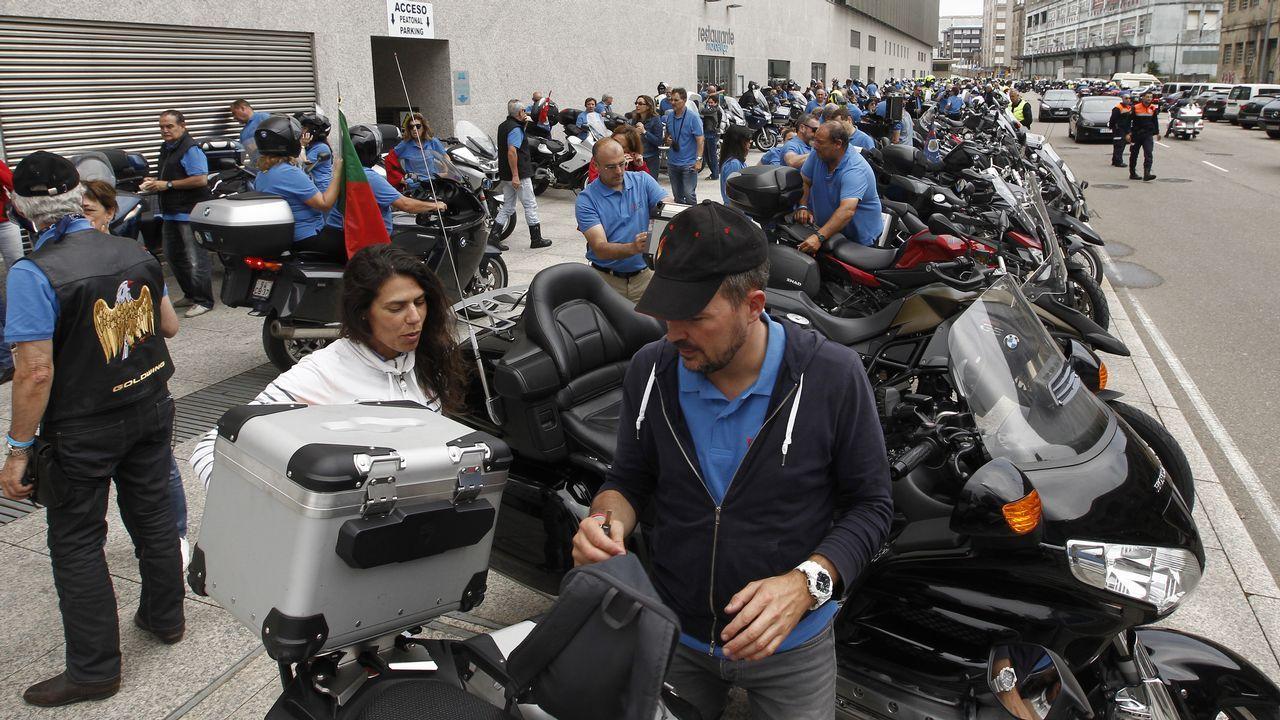 Así rugieron las motos en Poio