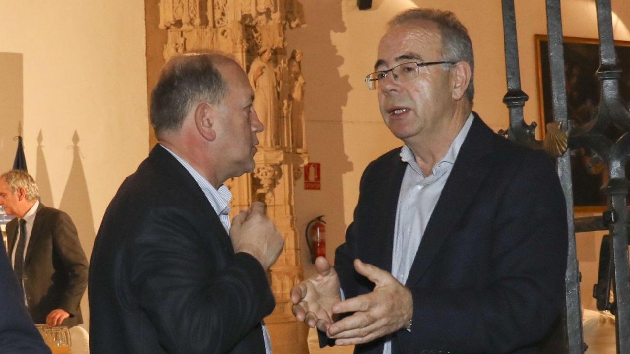 Gonzalo Caballero con Leiceaga