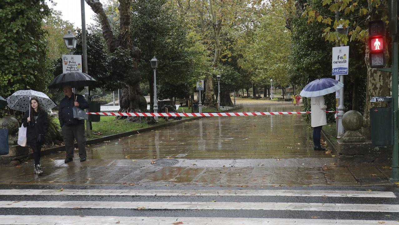 Fuertes lluvias y vientos a causa del temporal en Santiago, donde se han cerrado varios parques.
