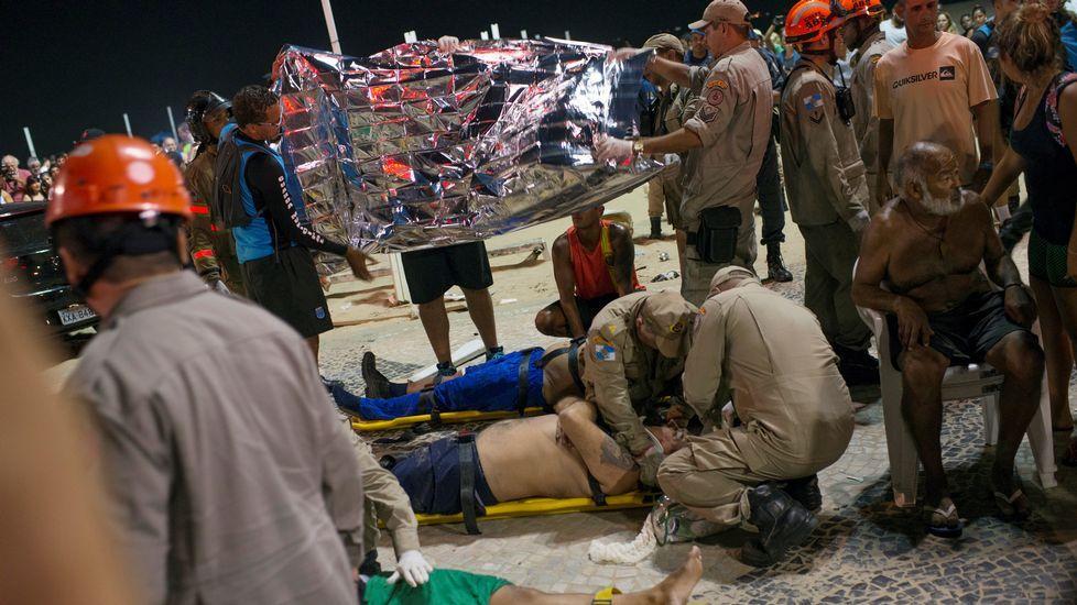 Heridos en Copacabana