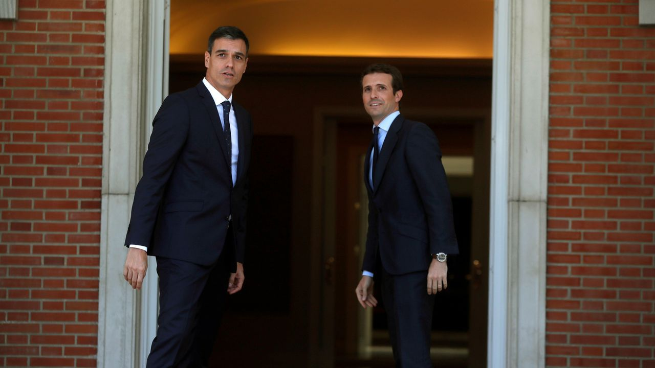 .La primera reunión en La Moncloa entre Sánchez y Casado fue larga pero concluyó como se preveía, con desacuerdos en casi todos los asuntos