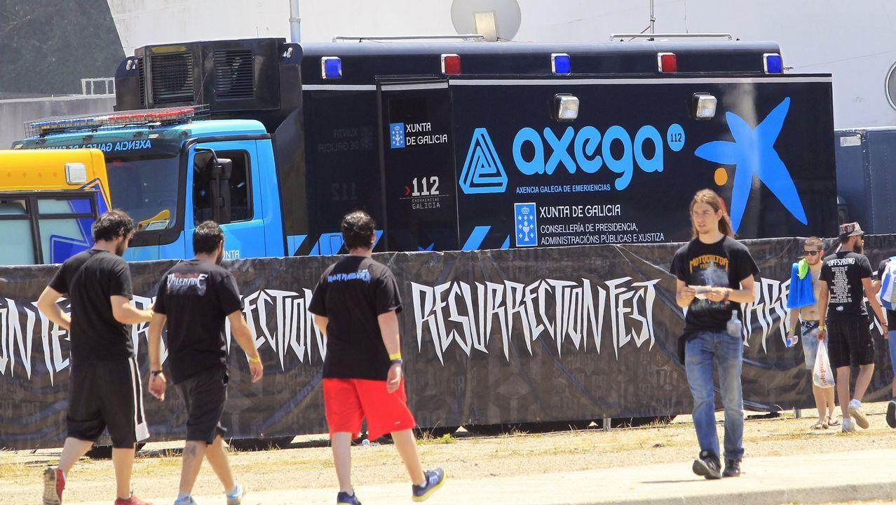 Gene Simmons, del grupo Kiss, en el festival Monsters Of Rock 2015, en São Paulo (Brasil). Los rockeros están en el cartel de Resurrection, en Vivero (Galicia), y Rock Fest Barcelona
