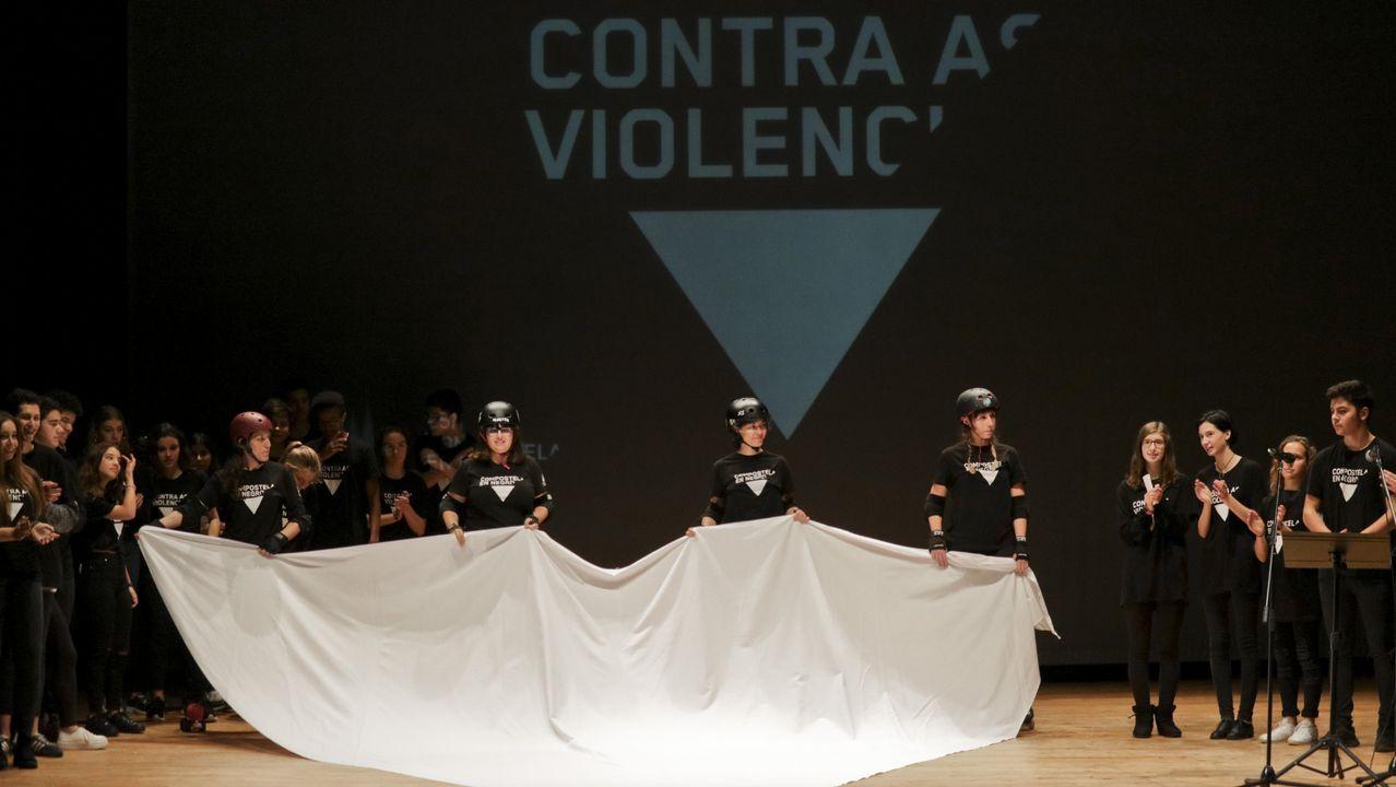Clamor contra la violencia machista en Santiago