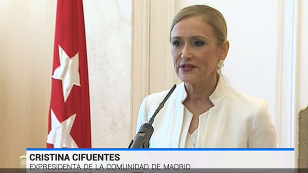 Comparecencia de Cristina Cifuentes para presentar su dimisión
