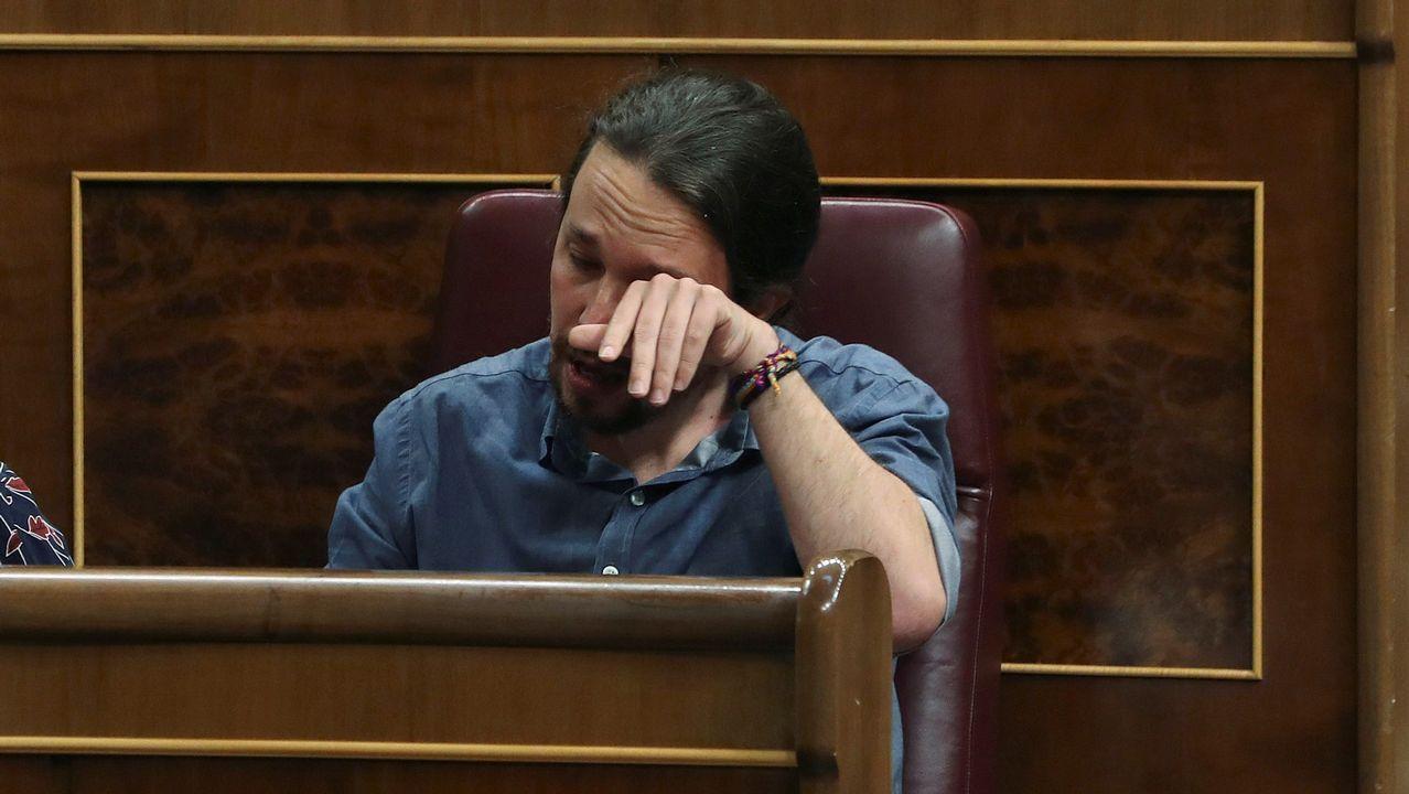 .Pablo Iglesias rompe a llorar en el Congreso