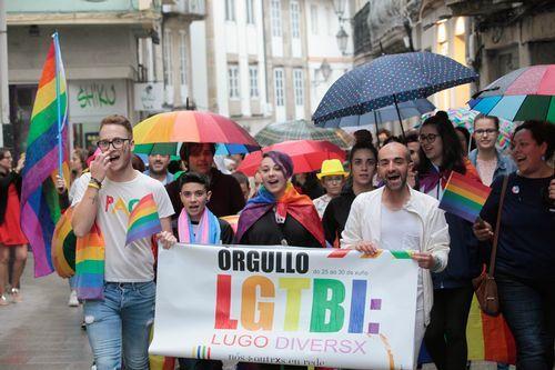 Visibilización en Lugo del movimiento LGTBIQA+.