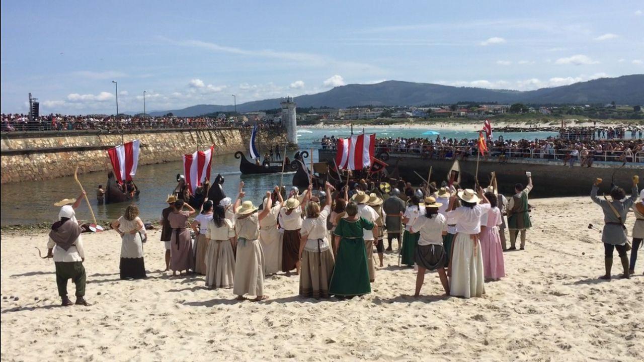 Los normandos desembarcan en Foz