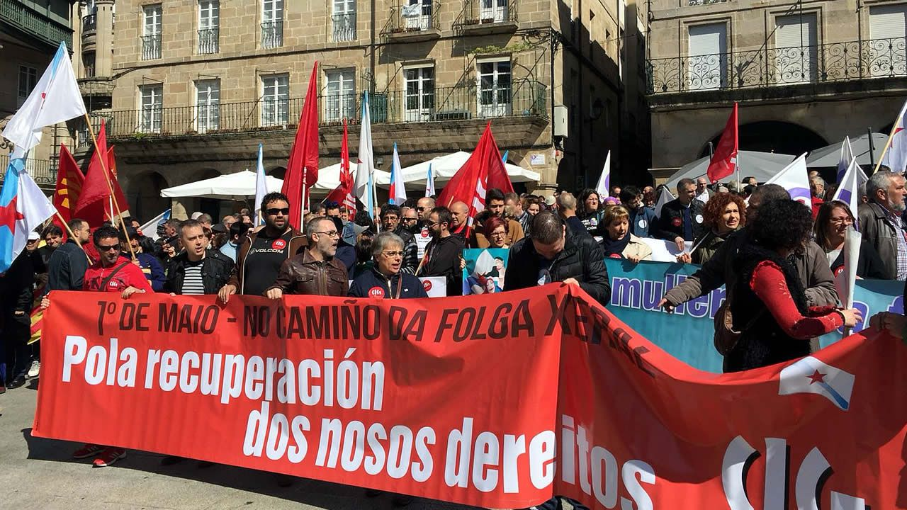 Manifestación del 1 de Mayo en Ourense