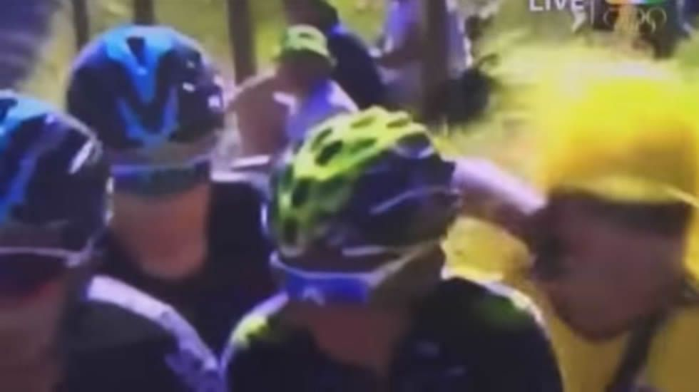 La carrera de Purito, en imágenes.Froome agrede a un aficionado durante la etapa en el Tour