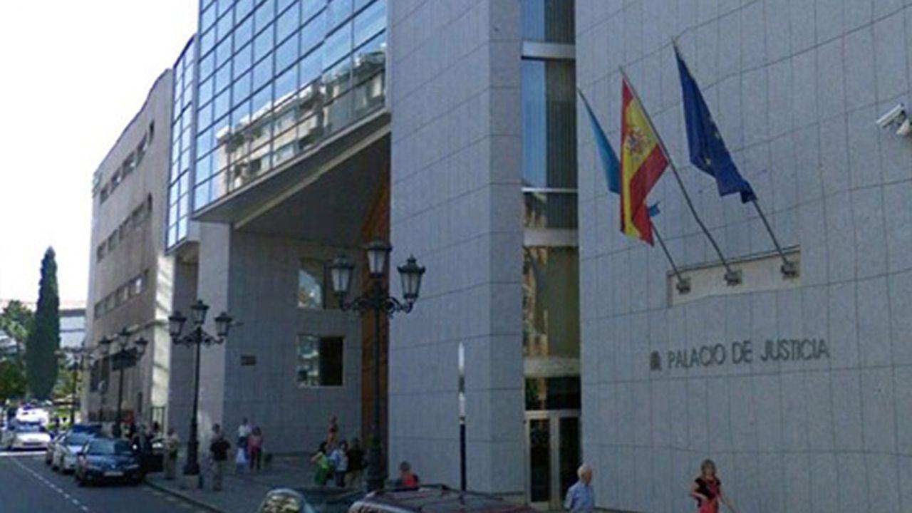 Las plazas asturianas, a reventar en el 8-M.Juzgados de Oviedo