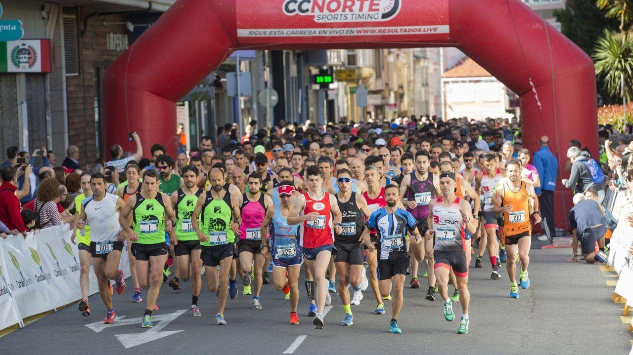 Las imágenes del medio maratón de O Camiño.alberto Juantorena