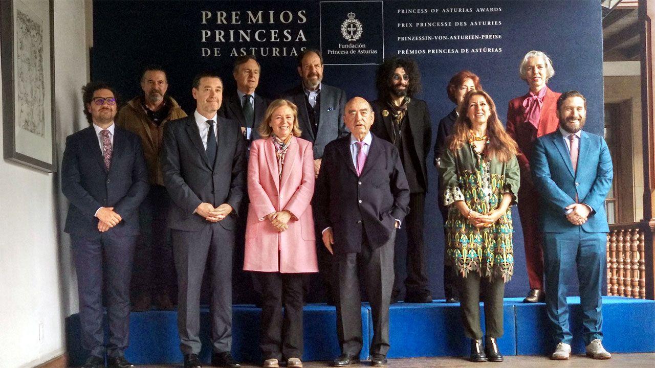 El jurado del Premio Princesa de Asturias de las Artes 2019, en el hotel de la Reconquista