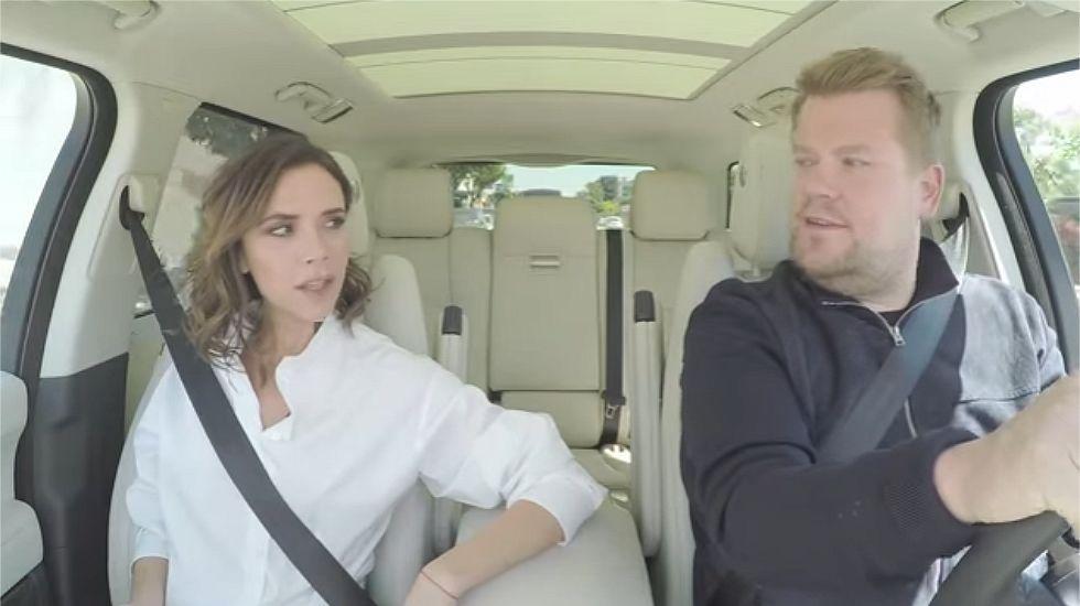 El inesperado Carpool Karaoke e Bictoria Beckham.Eva Longoria luciendo los diseños de Miss García