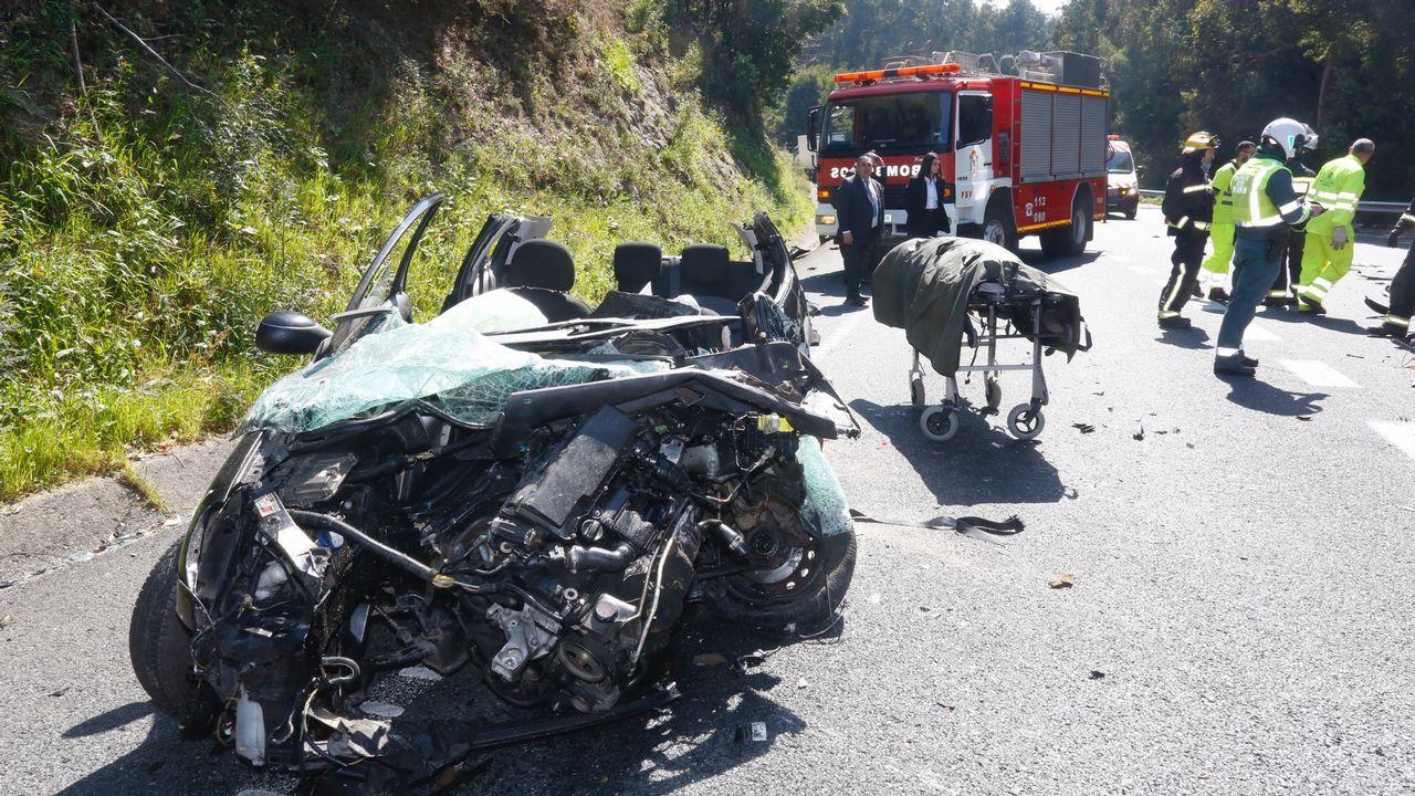 Accidente con un muerto entre un coche y un camión en Cerponzóns