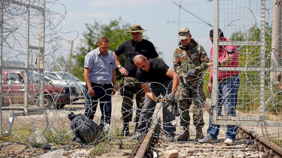 .Fase final del desmantelamiento del campamento de Idomeni, en la frontera entre Grecia y Macedonia.