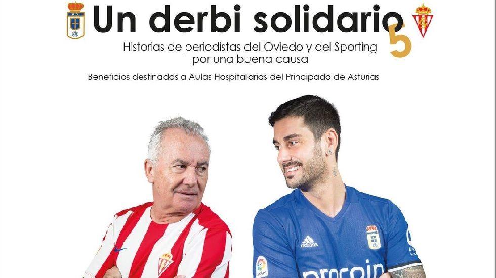 Victor Manuel y Melendi en la portada de la quinta edición de «Un derbi solidario»